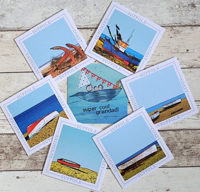 Barley Bay fine art cards coastal range Suffolk Southwold